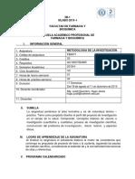 Fb4071 Silabo. Met Investigacion