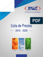 Lista de Precios Anwo 2019 - 2020 (Digital)