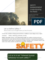SAFETY MANAGEMENT Understanding the Need