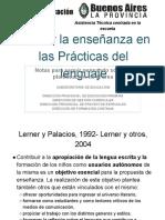 La enseñanza en las prácticas del lenguaje