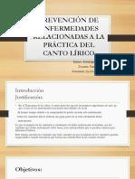 PREVENCIÓN DE ENFERMEDADES RELACIONADAS A LA PRÁCTICA DEL diapositivas.pptx