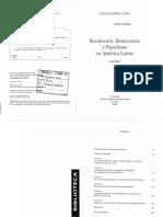 Knight Alan 2005. Revolucion Democracia y Populismo en America Latina