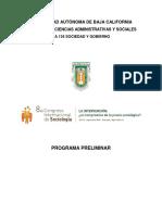 Programa preeliminar CIS 2018