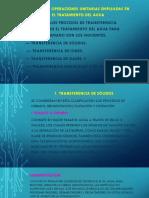 Diapositivas Procesos Unitarios. Recurso Agua