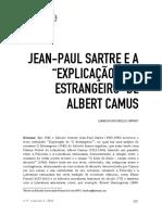"""SAMPAIO, Leandson Vasconcelos. Jean-Paul Sartre e a """"Explicação de O Estrangeiro"""" de Albert Camus"""