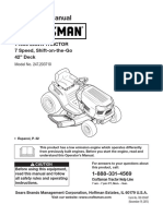 Diagrama Podadora de Tractor Craftsman Español
