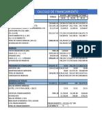 Calculo de Financiamiento