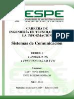 Modelo OSI & Frecuencias AM-FM