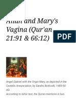 Allah and Mary's Vagina (Qur'an 21_91 & 66_12) - WikiIslam.pdf