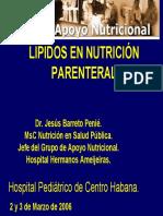 Lipidos en nutrici+�n parenteral