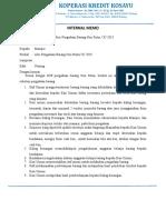 Internal Memo Pengadaan Barang Non Rutin-revisi Per 15 Oktober 2019