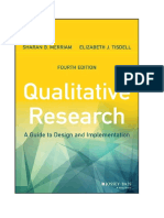 MERRIAM e TISDELL Qualitative Research a Guide to Design and Implementation 4th Edition