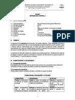 Silabo Sistemas de Control II Unmsm 2019 II Por Competencia