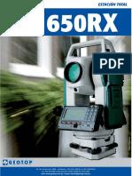 Brochure Estacion Total Sokkia Set 650 Rx Geotop Opt