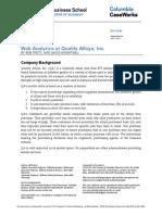 Web Analytics at Quality Alloys, Inc