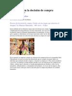 Los 6 Roles en La Decisión de Compra