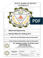Cblm Basic 4. Practice Occupational Health and Safety