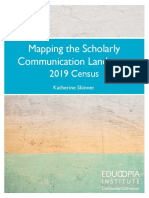 Mapping the scholarly communication  landscape 2019 Census