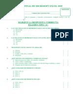 Examen de de Microsoft Excel 2010 Tipo A