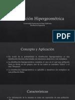 Distribución Hipergeometrica