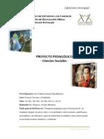Proyecto de Aprendizaje. CIENCIAS SOCIALES