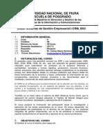 Silabo de Sistemas de Gestion Empresarial I