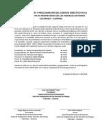 Acta de Elecciones y Proclamación Del Consejo Directivo de La Asociación