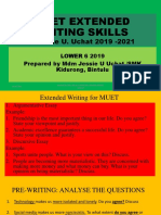 Effective Extended Writing Techniques 2019