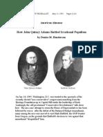 John Quincy Adams and Populism