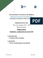 FTP WindowsServer FranciscoSierraGonzalez