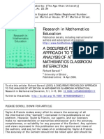 A Discursive Psychology Approach to the Analysis of Attention in Mathematics Classroom Interaction_(2003)