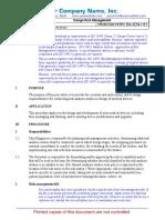 ISO 13485 Operational Procedure QOP-73-02 (a) Design Risk Management