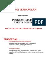 Energi Terbarukan Pertemuan 1.ppt