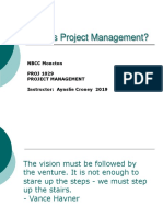 2019 Lesson 01  - What is Project Management