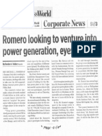 Business World, Oct. 21, 2019, Romero looking to venture into power generation, eyes Malaya.pdf
