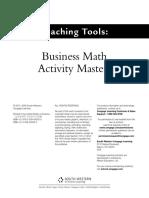 Business Math Activity