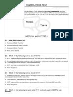 Restful Mock Test i