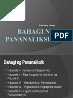 bahagi ng thesis sa filipino 2 Ang pananaliksik ay ang proseso ng pangangalap ng mga totoong impormasyon na humahantong sa kaalaman isinasagawa ito sa pamamagitan ng paggamit ng.