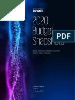 2020 Budget Snapshots