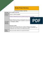 student project summary