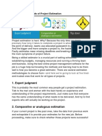 5 Successful Methods of Project Estimation
