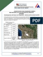 Informe del sismo de Chuquisaca