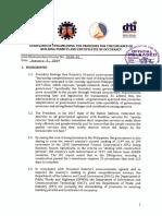 Dilg Dict Dpwh Dti Ncc Jmc No. 2018 01