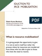 Resource Mobilisation
