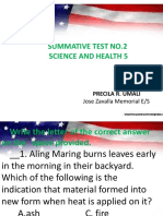Sci Sum First Grading No. 2