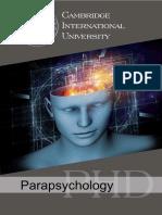 Parapsychology PHD
