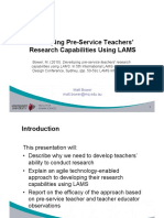 Using Lams to Develop Pre Service Teacher Research Capabilities
