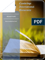 MASTER IN NATUROPATHY