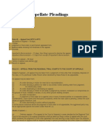 Guide to Appellate Pleadings