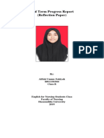 Alifah Ummu Zakiyah R011181044 Reflection Paper 1